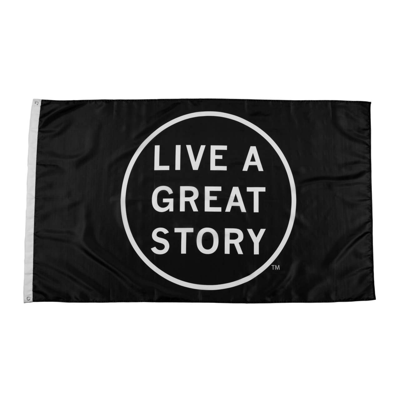 LIVE A GREAT STORY 3x5 Flags - Inspirational Wall Art Dorm Decor - Cool Flags Apartment Decor - Motivational Wall Art - Polyester with Brass Grommets - College Flag Wall Decor - Apartment Decorations by LIVE A GREAT STORY