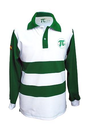 Pi2010 - Polo Bandera de España Hombre/Verde y Blanco/Fabricado en ...