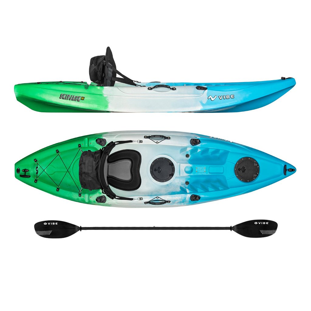 Vibe Kayaks Skipjack Angler Sit On Top Fishing Kayak