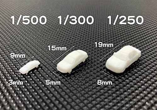 Happy Spring 模型 車 白 未塗装 100個 セット ジオラマ ミニカー 道路 卒業 制作 (1/500)