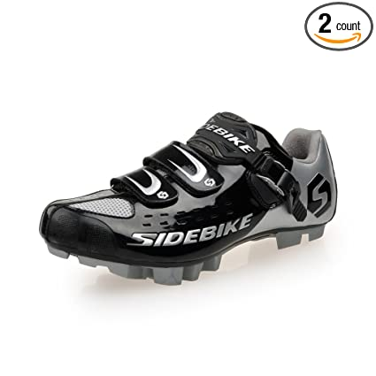 SIDEBIKE MTB Cycling Shoes Men s Professional Mountain Bike Shoe  (SD001-Black Silver 258772d139b2