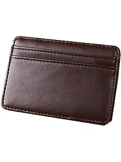 Amazon.com: TOPUNDER L - Cartera de piel para hombre: Clothing