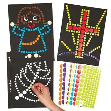 Baker Ross Círculos Adhesivos Para Crear Dibujos Infantiles De