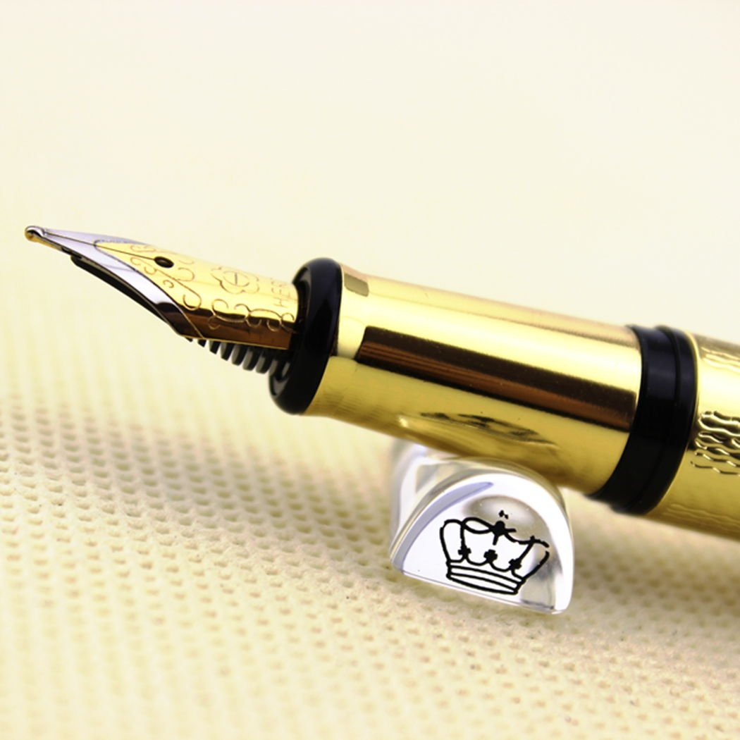 17353ba81529 Amazon.com : Luxury Hero 760 Black and Golden Circle Fountain Pen with a Nice  Original Gife box : Office Products