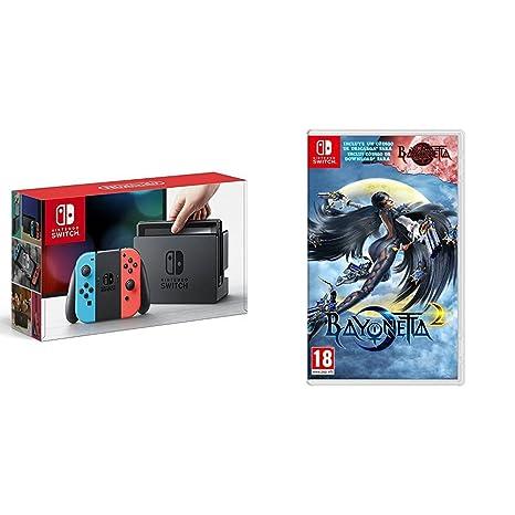 Nintendo Switch - Consola color Azul Neón/Rojo Neón + ...