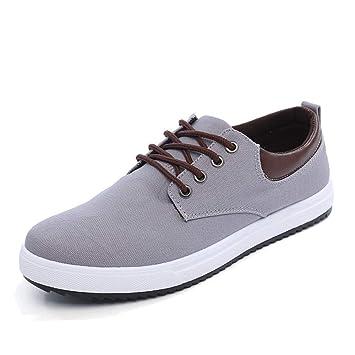 Ywqwdae para Hombre con Cordones cómodas Alpargatas Ocasionales Daily Soft Sole Yacht Shoes (Color : Gris, tamaño : EU 40): Amazon.es: Hogar