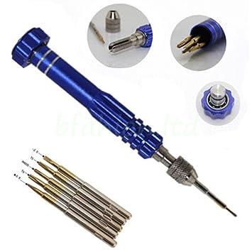 Unho® Set de 5pzs, Herramientas para Reparación de Móviles, Destornilladores Magnéticos de Precisión para iPHONE, iPad, iPod Touch, Samsung, Nokia, ...