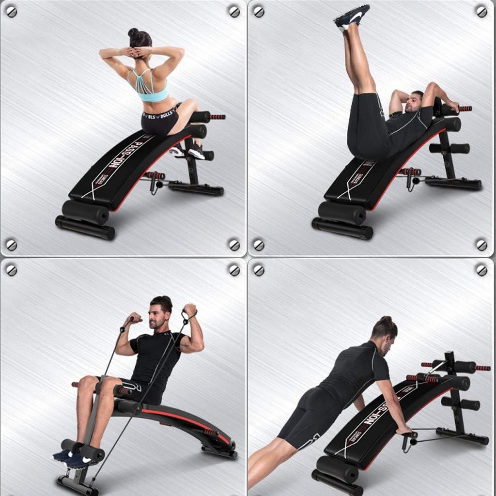 PIGE Tavola Addominale Multifunzionale Attrezzature Sportive per Il Fitness abbassamento a Forma di Arco Regolabile Sit up Bench Crunch Board Esercizio Fitness Allenamento