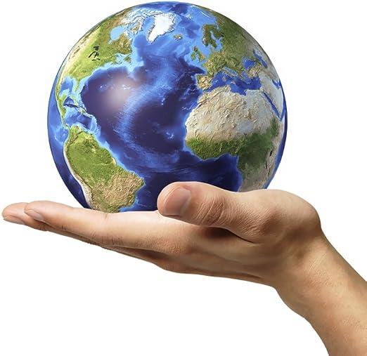 Amazon.com: Posterazzi Male Hand Holding Earth Globe White ...