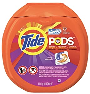 Tide Pods, Spring Meadow,72 Count per pack, 64 Ounce
