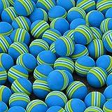 PLAYEAGLE 100pcs Rainbow Foam Sponge Golf Ball Golf Training Soft Balls Indoor Practice Ball