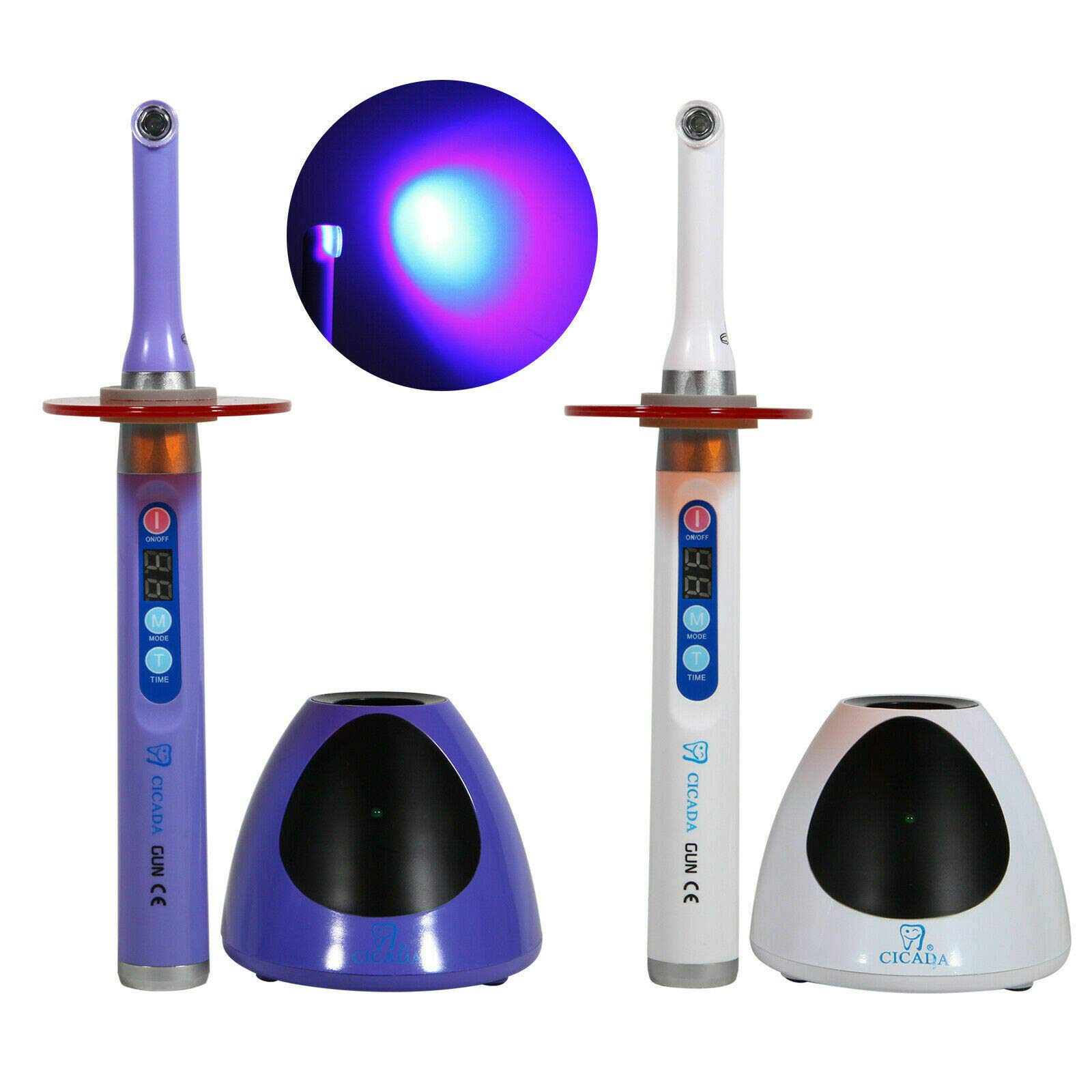 Aries Outlets 2X Dental Wireless Cordless LED Light Lamp for Woodpecker iLED 1S Purple