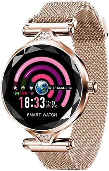 XYZY Mujer Reloj Inteligente Periodo Fisiologico Salud Monitoreo Monitor de Actividad HD Pantalla a Color Frecuencia CardiacaDormir Monitoreo IP67 Pulsera Deportivo Bluetooth: Amazon.es: Hogar