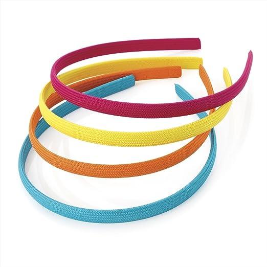 9 opinioni per Pack of 4 Fabric Alice Bands Headband Blue, Orange, Yellow & Pink