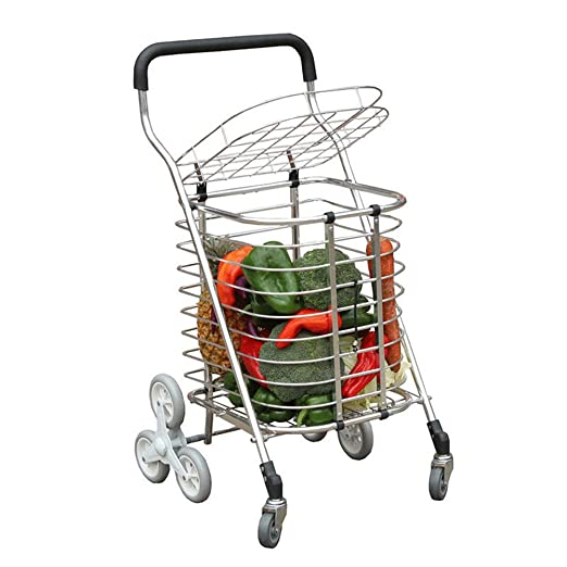 Amazon.com : WE&ZHE 8-Wheel Folding Shopping Trolley Lightweight Stair Climbing Cart Removable Waterproof Bag Laundry, Grocery Market : Garden & Outdoor