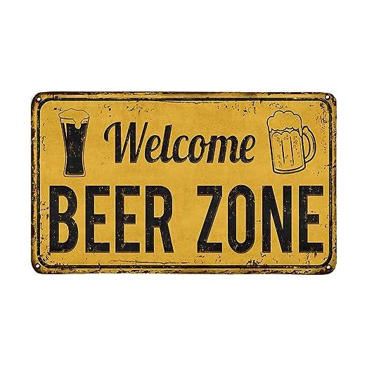 Divertido Vintage Cartel de metal oxidado Bienvenido Cerveza ...