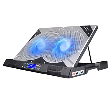 TBY Disipador De Calor Ordenador Portátil Silencio Ventilador Cojín De Enfriamiento Ajustable Soporte 2USB Interfaz LED