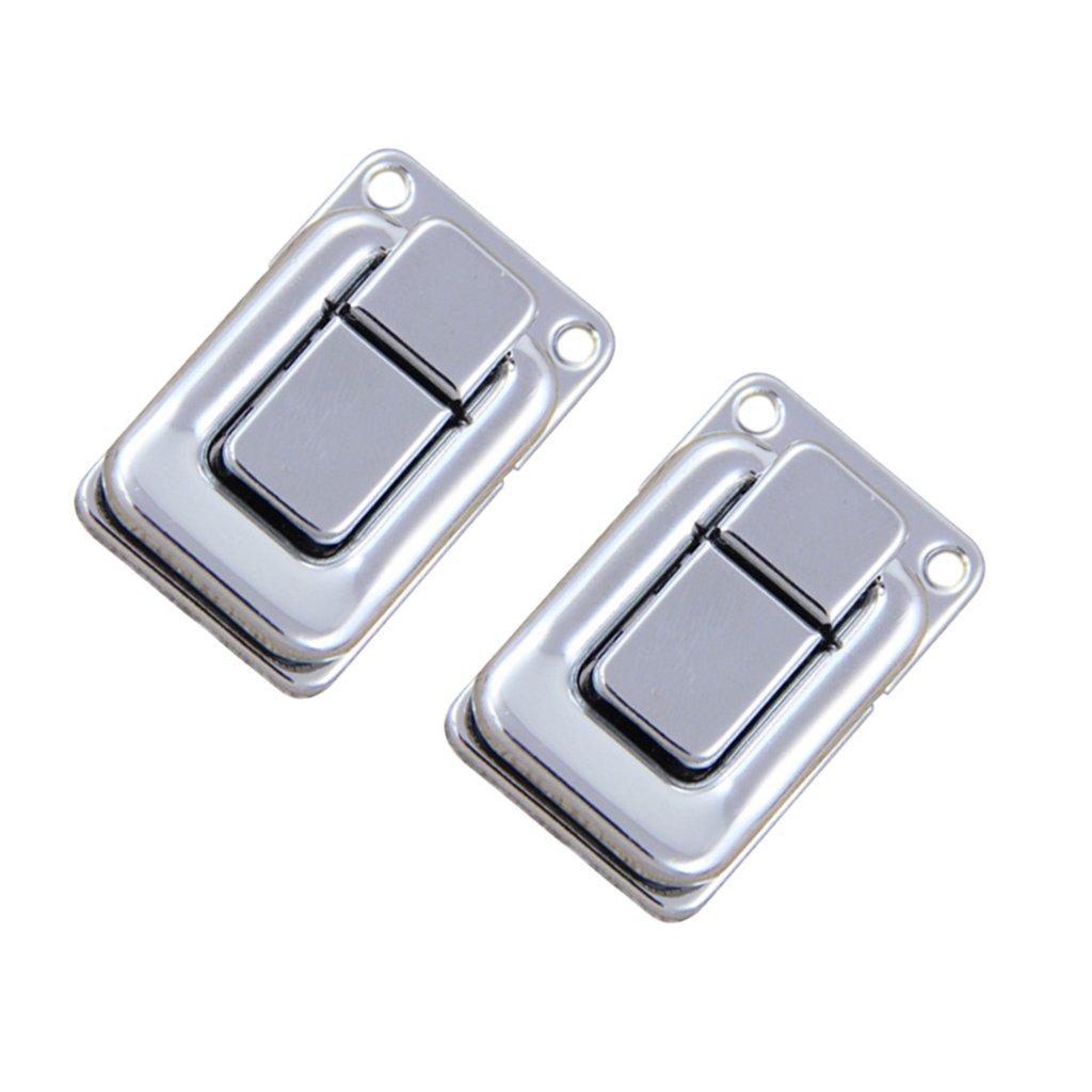 # 2 Sharplace Set De 2 Pcs Fermeture De Bijoux Bo/îte Bascule Case Catch Loquet Coffre Caisse Valise Argent