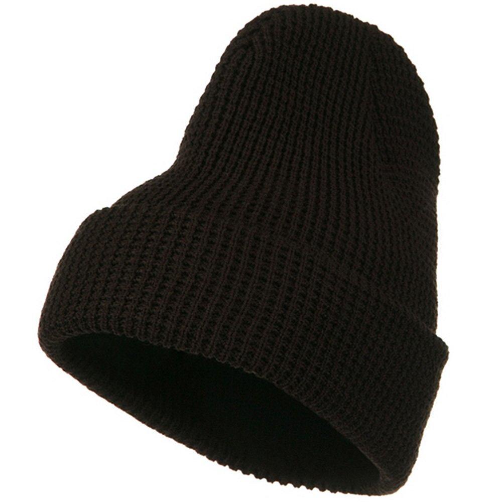 514bf5987d14a big stretch waffle stitch cuff beanie - brown (for big head)  Amazon.in   Clothing   Accessories