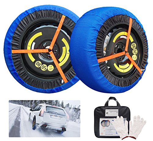 JSHANMEI Snow Socks Traction Adjustable Car Tire Cover Socks Tire Chains Alternative Anti Slip Winter Traction Aid Snow Sock (49)