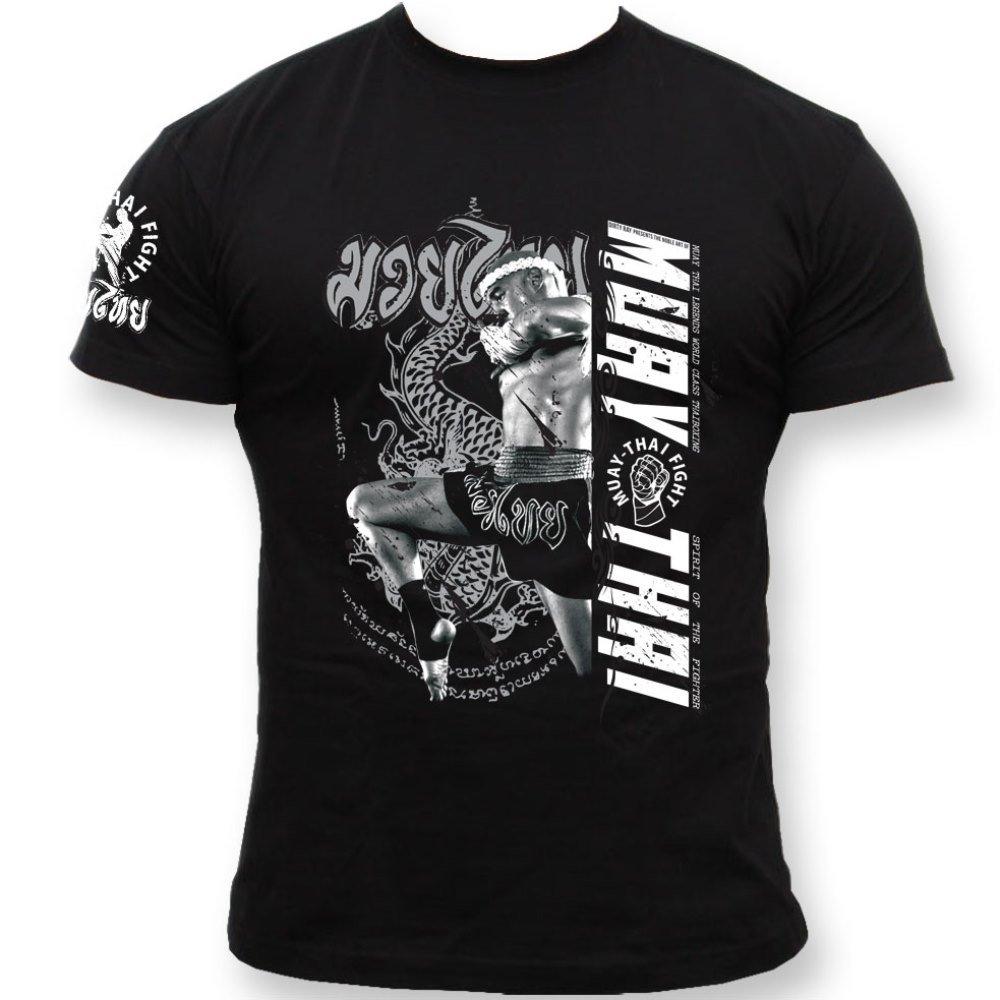Dirty Ray Arts Martiaux Muay Thai t-Shirt Homme K71C