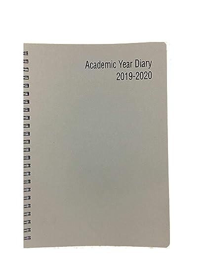 2019-2020 - Agenda escolar con tapa de plástico (tamaño A4 ...