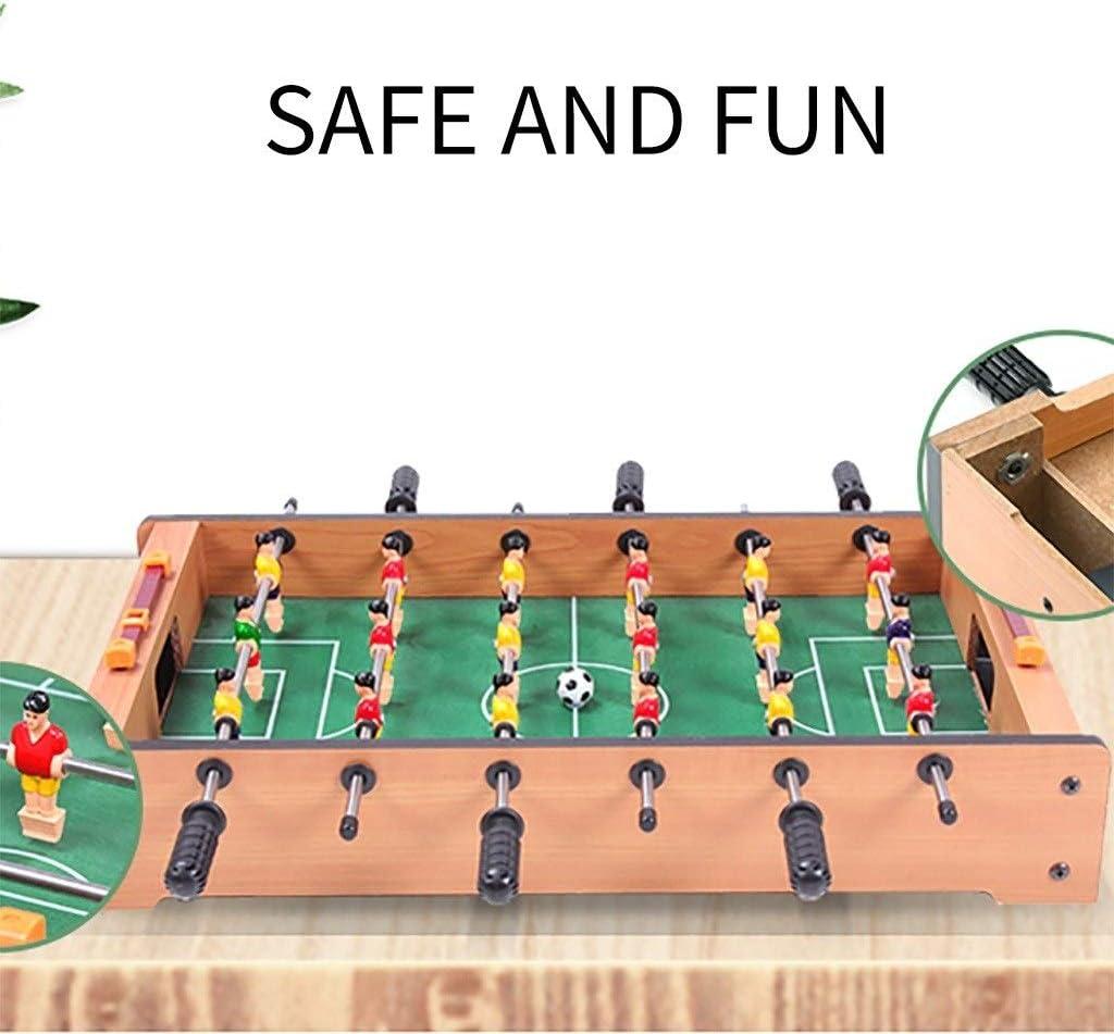 Futbolines Recuerdos De Juguete De Mesa Fútbol Máquina De Escritorio Boy Adult Entertainment Doble De Madera For Niños (Color : Wood Color, Size : 48 * 28 * 8.2cm): Amazon.es: Hogar