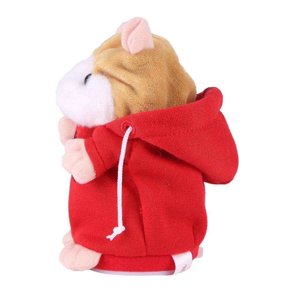 Netter sprechender Hamster Ton Satz der Spielzeug schaukelnden Hamster f/üllt Pl/üsch elektronisches Spielwaren fr/ühes Lernen Kinderkind Jungen M/ädchen Geburtstags Geschenk Festival Weihnachten blau