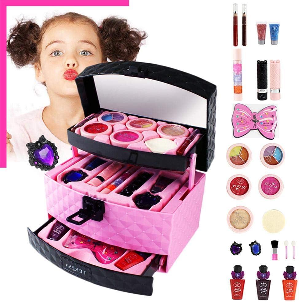Bloomma 23pcs Juego de Maquillaje de cosméticos y Maquillaje realistas Set de Maquillaje para niñas,Regalo de cumpleaños para niña: Amazon.es: Hogar
