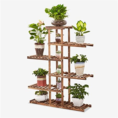 MultifuncióN Estante Almacenamiento Baldas Soporte de flores Estante de flores de madera de 6 estantes, escalera de estantería de flores de varios pisos Soporte de maceta for estante de exhibición de: Amazon.es: