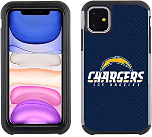 Prime Brands Group Cell Phone Case for Apple iPhone 11 - NFL Licensed Los Angeles Chargers - Textured TeamColor (NFL-TX1-IP11-CHRG)