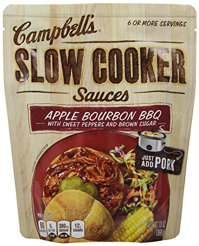 (Campbell's Slow Cooker Sauces: Apple Bourbon Pulled Pork (2 Pack) 13 oz Bags)