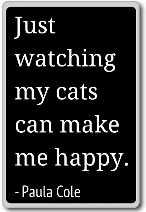 just watching my cats can make me happy paula cole quotes