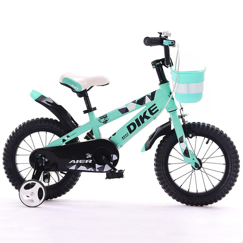 子供の自転車12/14/16 / inch 2-5-8歳の男の子と女の子の子供自転車三輪車緑 ( Size : 16 inches ) B07DPPG7ZT
