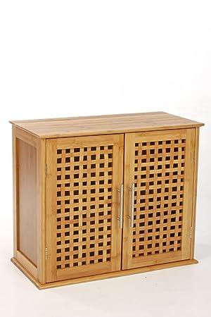 Meuble A Fixer Au Mur 2 Portes En Bambou