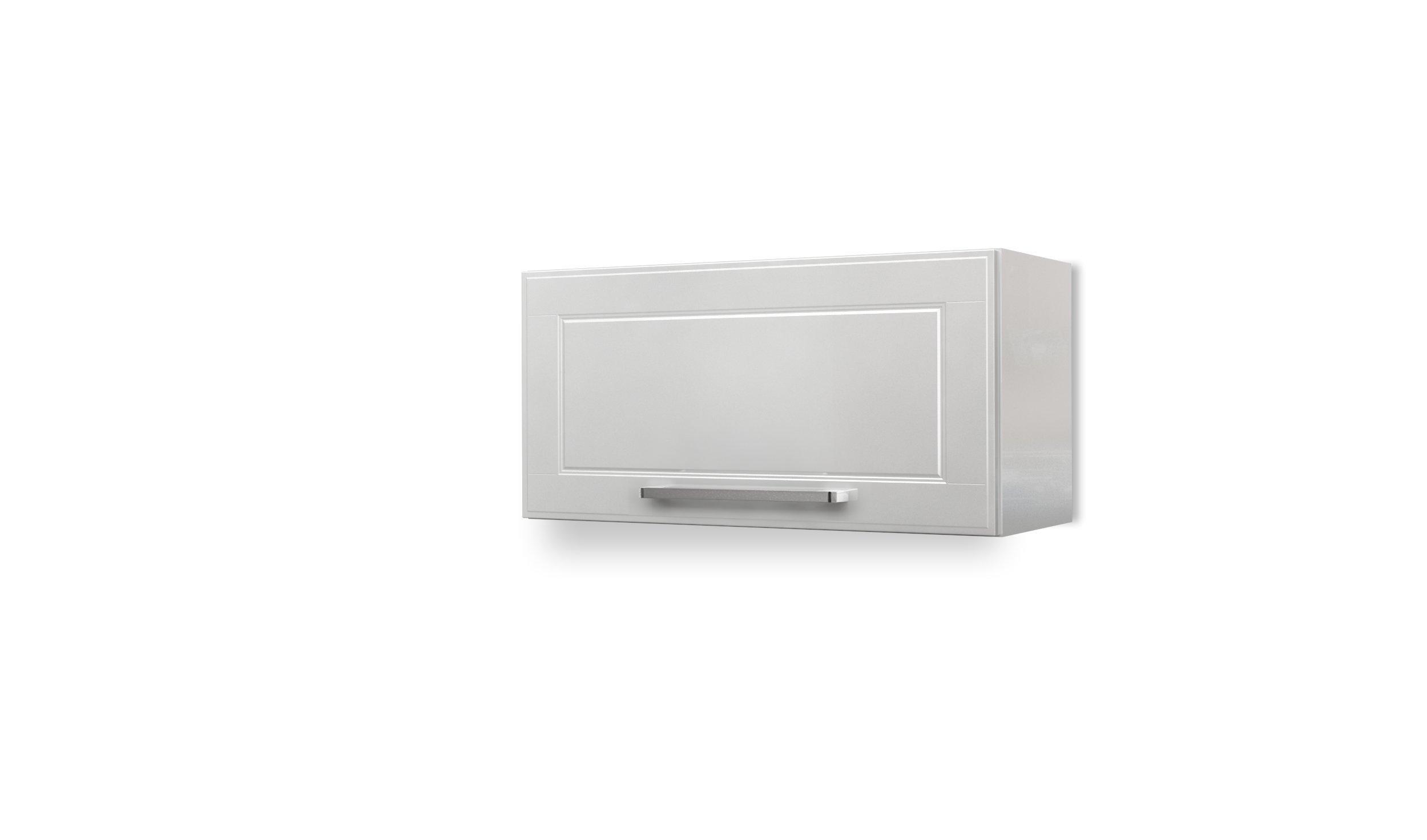 BSK Wall Steel Kitchen Cabinet 1 Hydraulic Door 27'' W x 14'' H, (White)