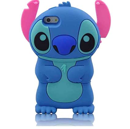 finest selection 4628d f2e44 Easierforyou Apple iPhone 7 plus Case 3D Cute Cartoon toon lilo stitch  Ultra Soft Silicone Gel Back Cover Case for 5.5 inches iPhone 7 plus (2016  ...