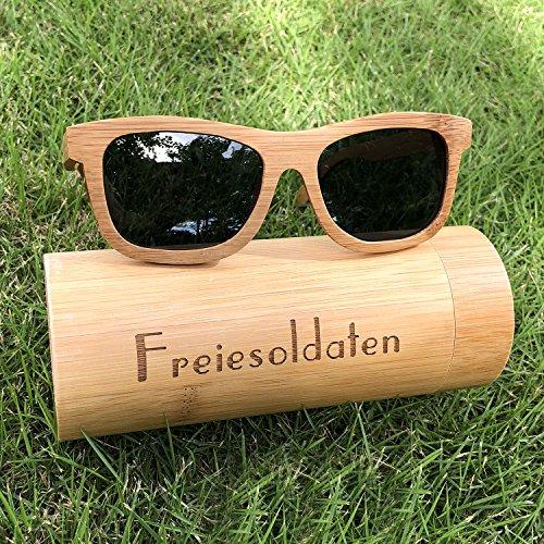 Des soleil Fait plein air lunettes Laser main Poids léger Gris avec De enduit Hommes Motif Des et Femmes de Freiesoldaten Bois lunettes PtaAqa