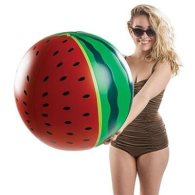 BigMouth Inc Giant Watermelon Beach Ball, Fun Summer Pool Toy: Sports & Outdoors