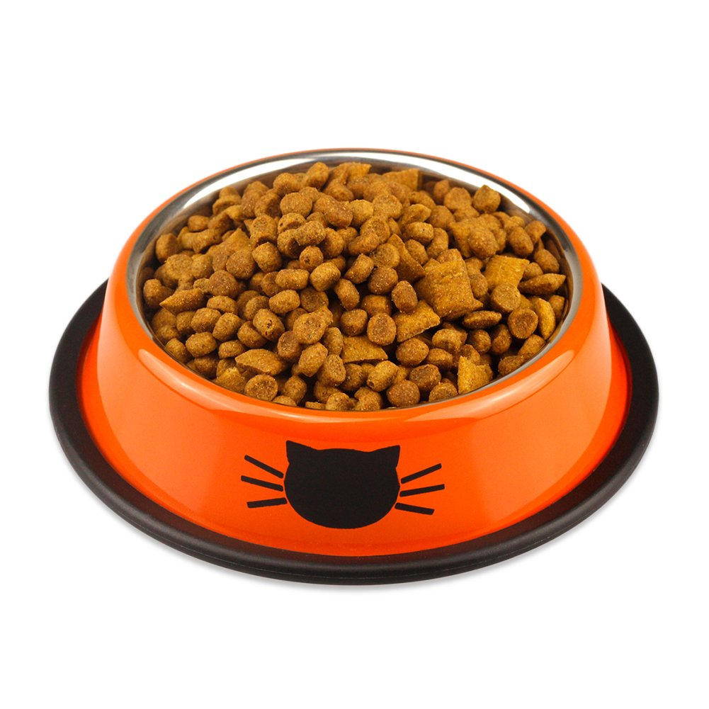 Ureverbasic Cat Bowls Stainless Steel Dog Bowl 8oz for Small Pets Puppy Kitten Rabbit Non-Skid Cat Food Bowls Easy to Clean Durable Cat Dish for Food and Water by Ureverbasic (Image #3)