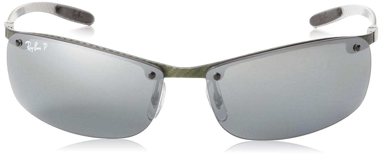 c5176f7528 Amazon.com  Ray-Ban RB8305 - LIGHT CARBON Frame POLAR GREY MIRROR SILVER  GRAD Lenses 63mm Polarized  Clothing