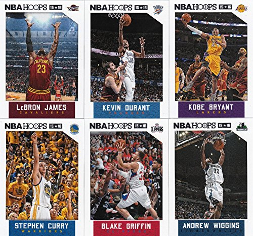 2015 2016 Hoops NBA Basketball Series Complete Mint 300 Card Hand Collated Set Loaded with Stars and Rookies Including Lebron James Kevin Durant Kristaps Porzingis and (Nba Mint)