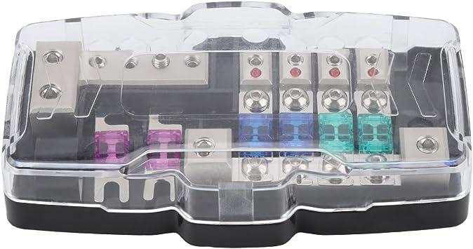 Kimiss Car Audio Stereo Anl Klinge Sicherungshalter Verteilerblöcke 0 4ga 4 Way Sicherungen Box Block 30a 60a Auto