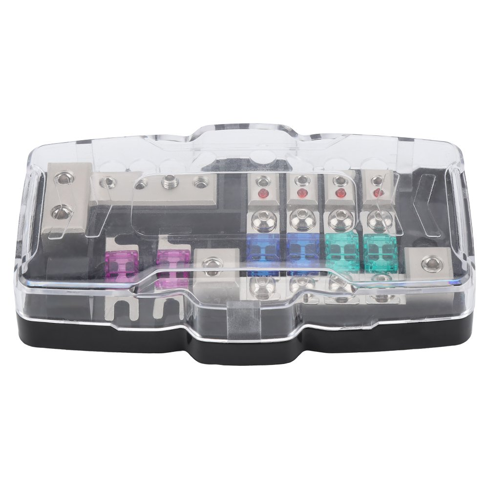 4 Way Car Audio Stereo ANL Blade Fuse Holder Distribution Blocks 0/4GA Fuses Box Block 30A 60A Keenso