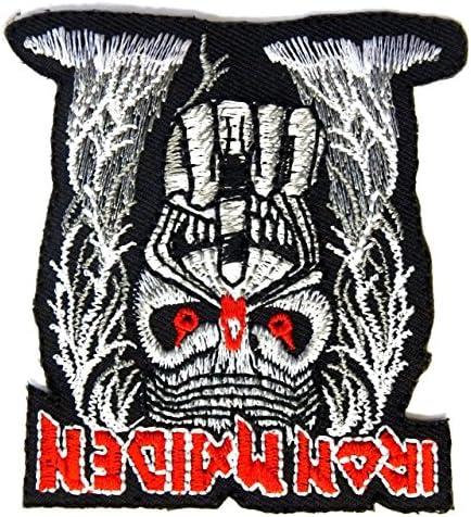 【ノーブランド品】アイロンワッペン  ロック バンド 音楽(バンド) ワッペン 刺繍ワッペン IRON MAIDEN アイアンメイデン アイロンで貼れるワッペン