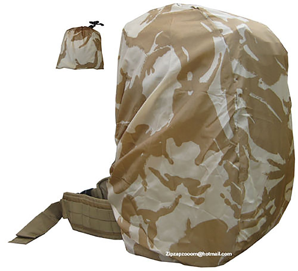 Rucksack Rain Army Camo Waterproof Bag Military Cover Backpack Desert Sand Combat Camo