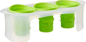 Tovolo Tiki Ice Molds, Silicone, Easily Stackable, Dishwasher Safe, - Set of 3