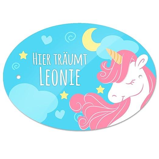 Eurofoto Cartel para Puerta con Nombre - Aquí soñamos Leonie ...