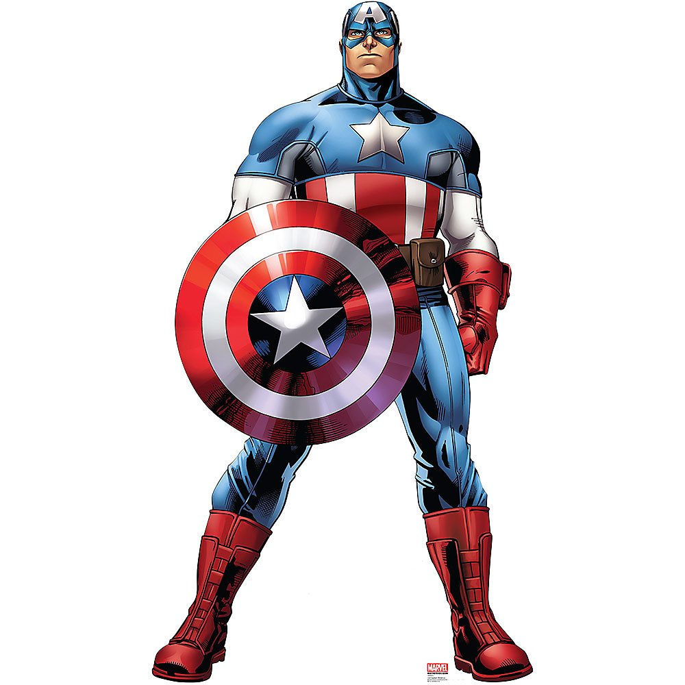 Captain America - Marvel's Avengers Assemble - Advanced Graphics Life Size Cardboard Standup by Advanced Graphics