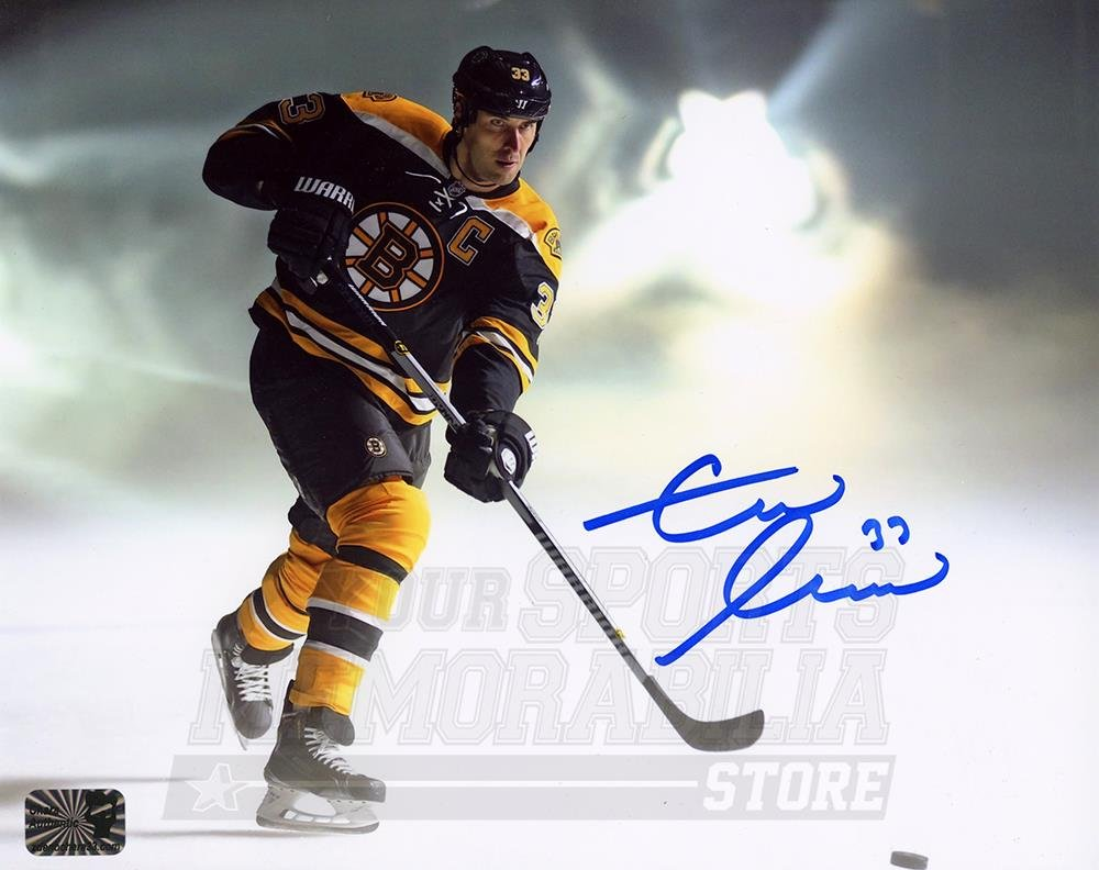 ba16a25aa Zdeno Chara Boston Bruins Signed Autographed Slapshot Smoke Spotlight 8x10  at Amazon s Sports Collectibles Store